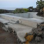 costruzione della vasca di cemento