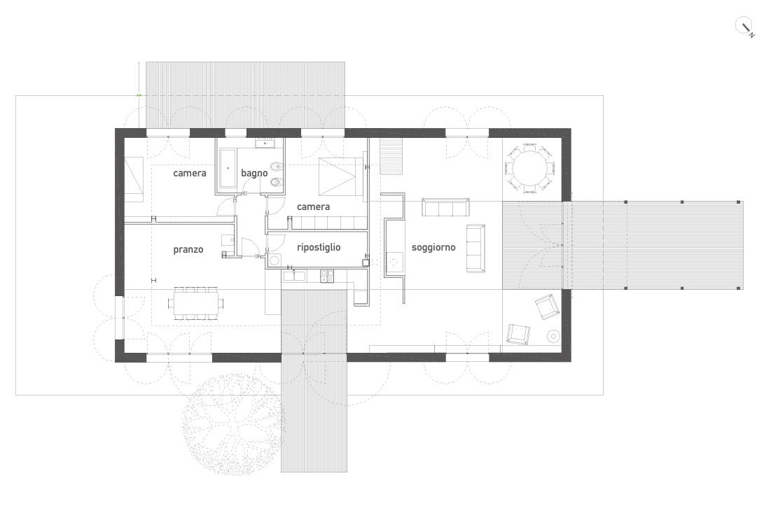 Villa a tuscania for Progetto piano terra