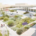 giardini sensoriali all'interno del pavaglione
